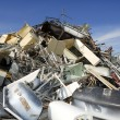 Metal scrap recycle ecological factory environment — Stock Photo