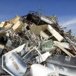 Metal scrap recycle ecological factory environment - Stock Photo