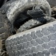 Vehicle tyres recycle ecological factory waste environment indus - Stok fotoğraf