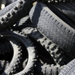 Pneumatics tyres recycle ecology industry - Stock Photo