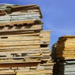 Formwork shuttering wood board stacked — Stock Photo #5505224