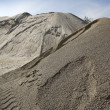 Colorful construction sand mound quarry variety - Stock Photo