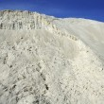 White sand mound quarry like moon landscape — Stock Photo