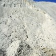 White sand mound quarry like moon landscape — Stock Photo #5505292