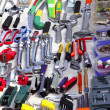 Bargain hand tools in second hand market - Stock Photo