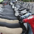 scooter mototbikes row many in rent store — Stock Photo #5505360