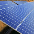 Solar electric plates green energy ecology — Foto Stock
