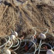 Fishing net tackle over soil traditional fishery — Stock Photo #5505365