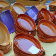 Clay pottery shop market traditional handcraft - Stock Photo