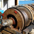 Постер, плакат: Capstan winch of trawlerfishing boa