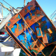 Stock Photo: Trawler boat tackle plates downrigger