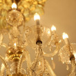 Old electric chandelier lamp — Stock Photo
