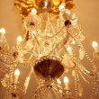 Old electric chandelier lamp - Stock Photo
