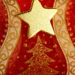 Christmas golden decoration with gold star — Stockfoto
