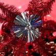 Christmas star, xtmas, red, celebration — Stock Photo