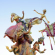 Fallas from Valencia, Spain celebration cartoon figures — Stock Photo