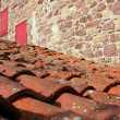 Royalty-Free Stock Photo: Architectural grunge aged roof clay tiles