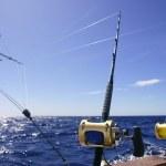 Big game boat fishing in deep sea — Stock Photo