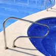 Jacuzzi outdoor blue swimming pool — Stock Photo