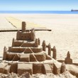 Royalty-Free Stock Photo: Beach sand castle summer vacation street art