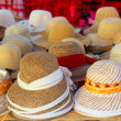 Stock Photo: Hats arrangement on market hand craft shop