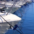 Boats bow in marina Mediterranean sea bow detail — Stock Photo #5506240