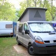 Camper camping tent park outdoors van — Stock Photo