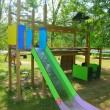 Colorful slide children park outdoor nature — Stock Photo #5506264
