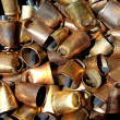 Royalty-Free Stock Photo: Cowbell bell pattern texture in market shop