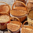 Stock Photo: Basketry traditional handcraft in spain