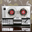 Classic retro reel to reel open 60s vintage music - Stock Photo