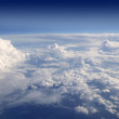 Blue sky view from aircraft airplane — Stock Photo