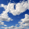 Sky in blue with clouds daytime — Stock Photo