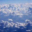Stock Photo: Blue sky clouds view from aircarft airplane