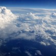 Blue sky clouds view from aircarft airplane — Stock Photo