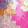 Colorful sequins macro closeup texture background — Stock Photo