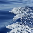 Blue water textures, waves foam, action, sea — Stock Photo #5507980