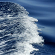 Blue water textures, waves foam, action, sea — Stock Photo