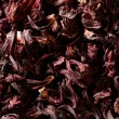 Hibiscus dried petals, Jamaica flowers, tea - Stock Photo