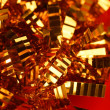 Abstract composition of christmas golden decoration — Stock Photo