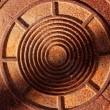 Royalty-Free Stock Photo: Round rusty metal top, texture background