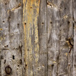 Aged old wood texture, ancient wooden door — Stockfoto