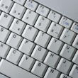 Computer laptop keywboard closeup macro — Foto Stock
