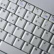 Computer laptop keywboard closeup macro — Stock Photo
