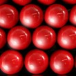 Billiard many red balls rows background texture — Stock Photo