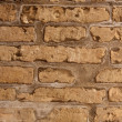 Aged bricks brown background wall — Stock Photo