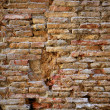 Aged bricks brown background wall - Stock Photo