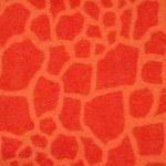 Giraffe imitation fantasy orange winter fabric — Stock Photo