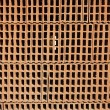 Construction bricks stacked pattern red clay — Stock Photo