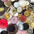 Clothing buttons collection mess pattern — Stock Photo